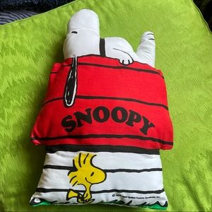 Vintage handmade Snoopy Woodstock pillow classic